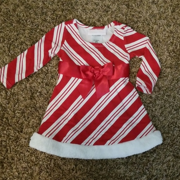 NWT Girls Size 3//6 6//9 18 24 MO Red White Bonnie Baby Striped Dress Diaper Cover